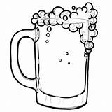 Beer Coloring Glass Drawing Pages Bottle Drinking Mug Clip Soda Clipart Printable Getcolorings Bee Clipartmag sketch template
