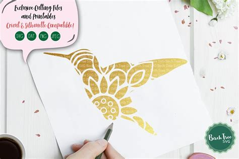 The files are free for personal and commercial use. Hummingbird Mandala SVG Cut File, Hummingbird SVG, Bird Svg