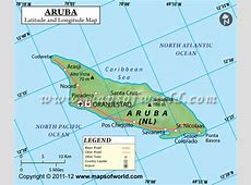 Aruba Latitude and Longitude Map