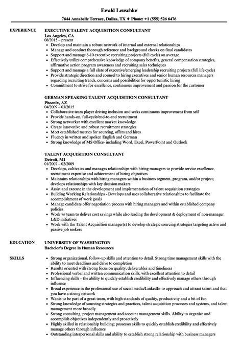 Talent Acquisition Specialist Questions by 10 Talent Acquisition Resume Sle Payment Format