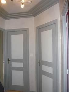Peinture Encadrement Fenetre Interieur : peindre porte interieure 2 couleurs survl com ~ Premium-room.com Idées de Décoration