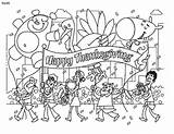Parade Thanksgiving Coloring Clipart Pages Disney Clip Happy Cliparts Library Turkey Printable sketch template