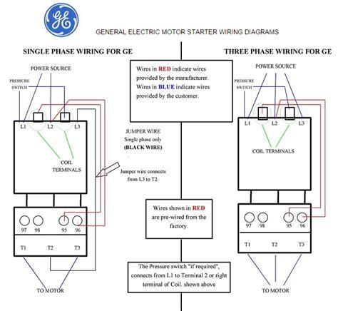 General Electric Motor Starter Phase Wiring