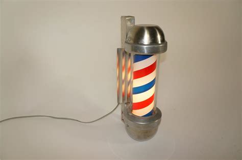 1950s marvy rotating light up chrome barber shop pole