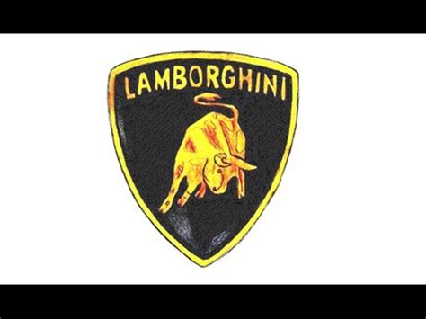 como desenhar  simbolo da lamborghini emblema escudo
