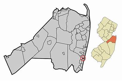 Svg Monmouth County Incorporated Highlighted Belmar Unincorporated