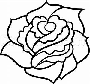 How to Draw a Rose For Beginners, Step by Step, Flowers ...