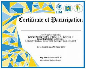 free templates for certificates of participation - participation certificate templates free premium