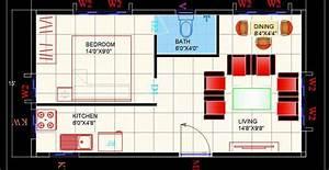 Studio, Apartment, Interior, Floor, Layout, Cad, Plan