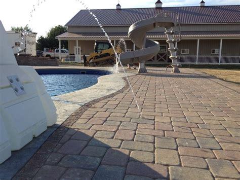 swimming pool paver patio in columbus ohio contemporary