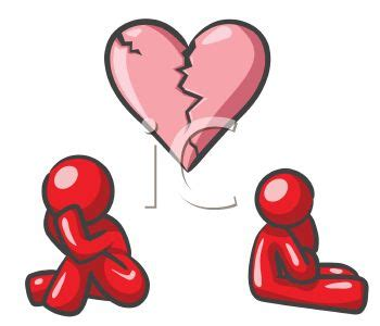 breaking  depicted   couple   broken heart