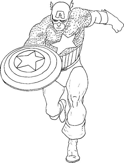 Kaptain Amerika Kleurplaat by Captain America Is A Coloring Pages Captain