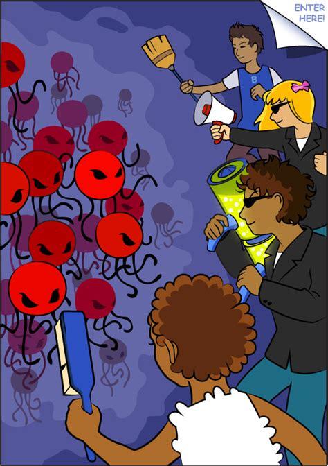 viral attack human immune system comic book