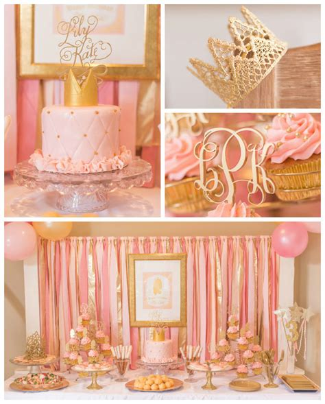 pink and gold birthday themes kara s ideas pink gold princess themed birthday