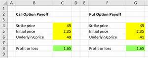 Option Payoff Diagram Excel