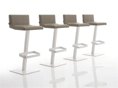 chaise réglable en hauteur chaise de bar rembourrée en tissu réglable en hauteur inka