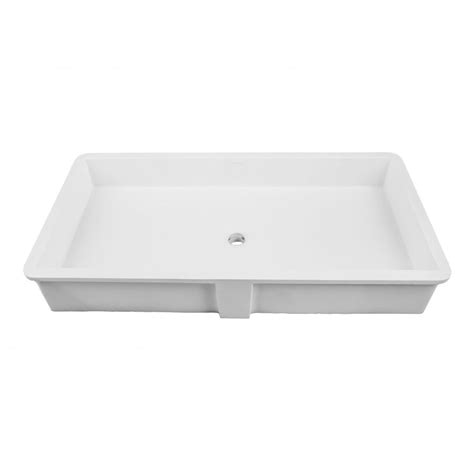 Decolav Undermount Bathroom Sinks by Decolav 16 Quot X 34 Quot Undermount Bathroom Sink White 1839 34