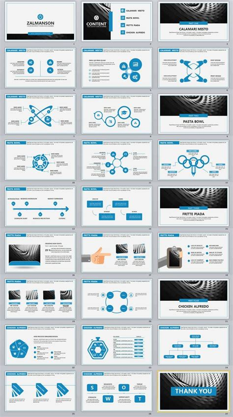 blue business professional powerpoint templates