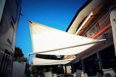 vele per terrazzi vela avvolgibile motorizzata 2 lembi cor maanta