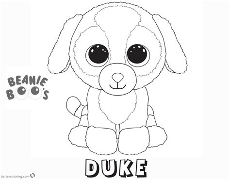 Kleurplaten Ty Beanie Boos by Beanie Boo Coloring Pages Duke Free Printable