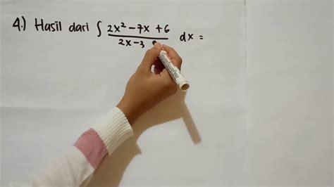 Khusus untuk soal tes potensi skolastik, materinya. Contoh soal dan pembahasan integral tak tentu - YouTube