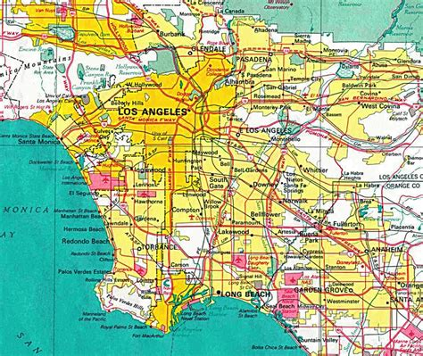 los angeles map toursmapscom