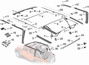 Jeep Wrangler Jk Soft Top Hardware Parts 4 Door