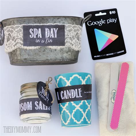 day gifts a gift in a tin spa day in a tin the diy mommy