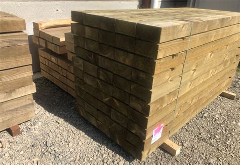 Softwood Sleepers by Treated Softwood Sleepers Timber Merchant Herefordshire