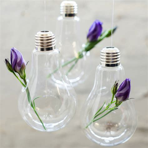 Glass Vases by Glass Hanging Vase Lightbulb By Bonnie And Bell