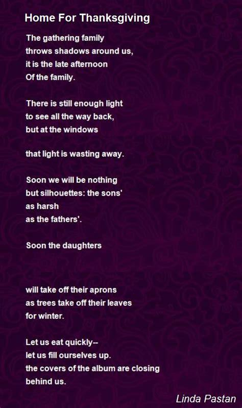 home  thanksgiving poem  linda pastan poem hunter