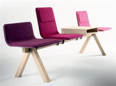 chaise salle d attente chaises sur poutre en tissu collection laia by alki