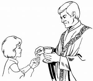 Black And White First Communion Clip Art - ClipArt Best