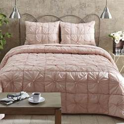 4pc camille blush pink queen bed quilt bedding set bedding