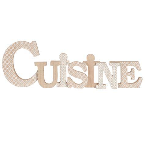 mot cuisine deco mot déco motifs blancs 55x18cm cuisine maisons du monde