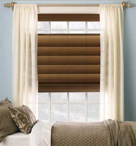 Levolor® Roman Shades Room Darkening Solids Bedroom