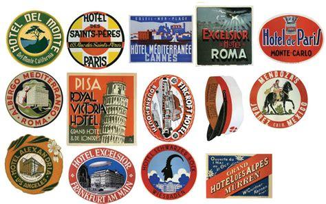 stickers pour cuisine étiquettes pour bagages vintage hôtel stickers lot de 14