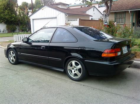 Black 97 Civic Coupe With Fat Fives...