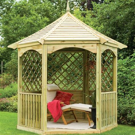 hexagon gazebo forest garden burford gazebo hexagonal
