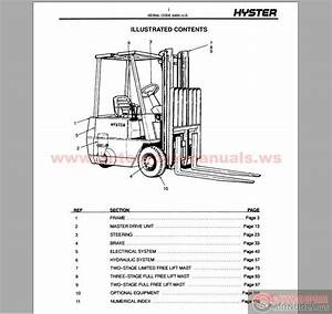 Free Auto Repair Manual   Hyster Forklift Parts And Service Manual Cd3