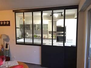 verriere interieure cuisine sejour coulissante With porte d entrée pvc avec plafonnier salle de bain industriel