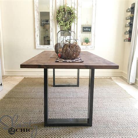 diy rustic modern dining table shanty  chic frugal