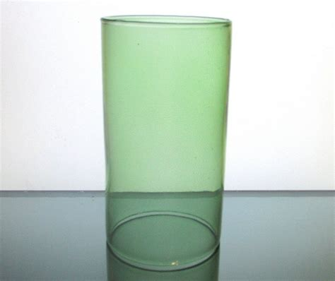 cylinder glass shade replacement hurricane shade sleeve cylinder green 6 75 x 4 6412