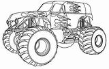 Monster Truck Coloring Pages Drawing Destruction Maximum sketch template
