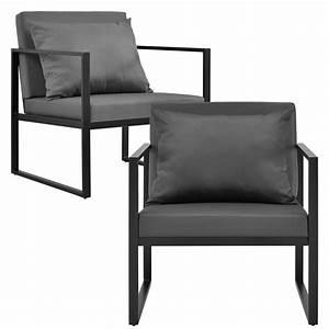 Garten Lounge Sessel : 2x gartenstuhl gartensessel schwarz outdoor garten lounge sessel ebay ~ A.2002-acura-tl-radio.info Haus und Dekorationen