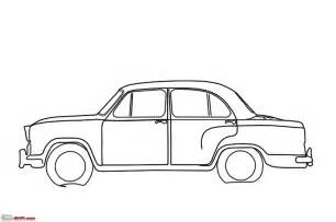 Old Car Outline Drawing