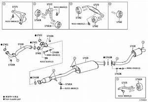2016 Lexus Is 350 Exhaust System Hanger Bracket  Engine