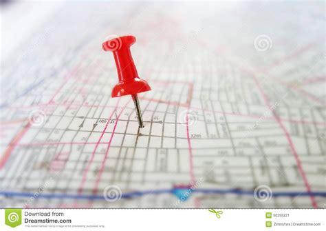 Tack Map Stock Photo