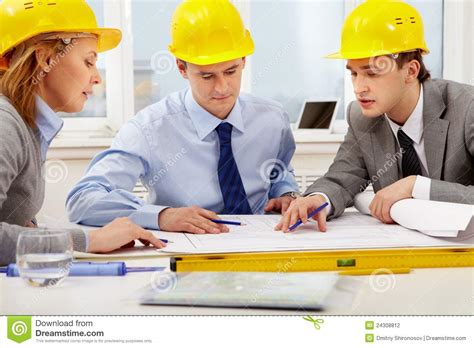 Architects At Work Stock Photo Image Of Document