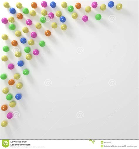 colored marbles colored marbles background border stock illustration